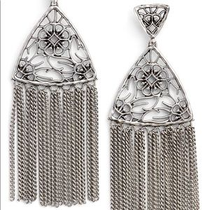 New Kendra Scott Antique silver Ana earrings